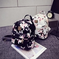 Women Backpack Fashion backpack Floral Printing Bag PU Leather Backpacks For Teenagers Girls Bolsa Feminina