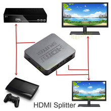 HDCP 4 K Full HD 1080 p HDMI Switcher HDMI Splitter 1X2 dividir 1 entrada y 2 Salidas Amplificador Dual Display Para HDTV DVD PS3 Xbox