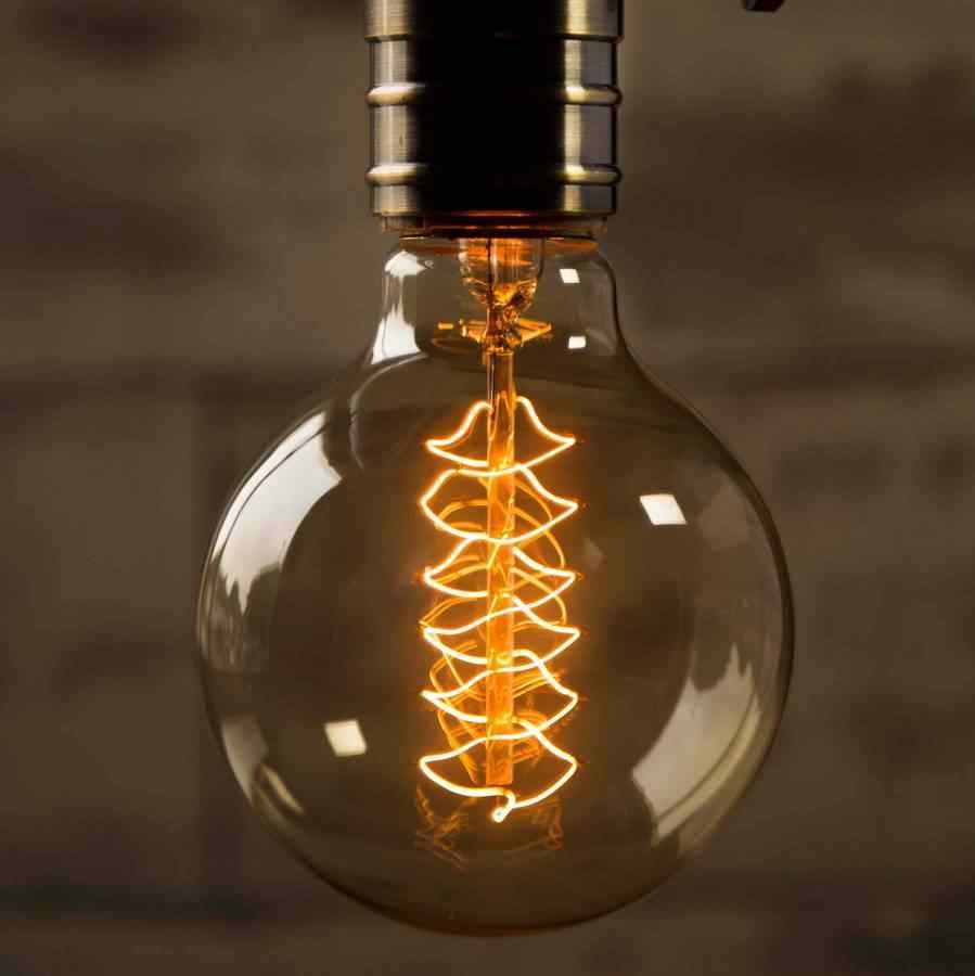 Retro Edison bombilla E27 220 V 40 W ST64 A19 A60 G80 G95 T10 T45 T185 de ampolla incandescente bombillas Vintage Edison lámpara