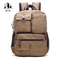 Male Backpack Casual Men Canvas Backpacks Men Fashion Bags Vintage School Bags Brand Rucksack Men Leisure