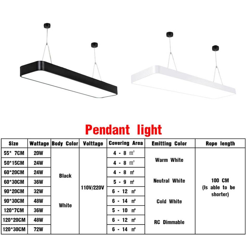 HTB1lvWhajzuK1RjSspeq6ziHVXas LED Modern Ceiling Light Lamp dimmable Surface Mount Panel Rectangle Lighting Fixture Bedroom Living Room office light 110V 220V