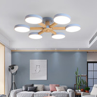 Colourful Led Ceiling Lamps Wood Ceiling Lights Atmosphere Bedroom Dining Room 3/6/8 Heads Bedroom Living Lighting Fixture Avize