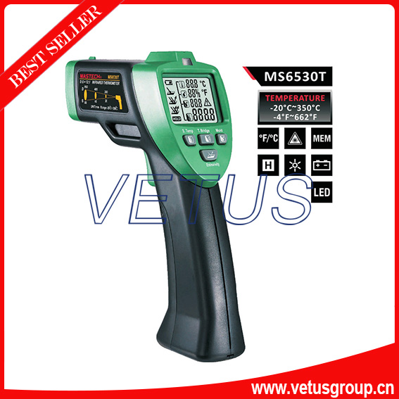 MS6530T Infrared Thermometer with Temperature Humidity tester beko dsfs 6530