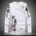 Shan bao marca clothing hombres casuales de manga larga t-shirt 2017 otoño alta calidad de palma de algodón elástico con cuello en v t-shirt delgada 15006