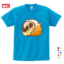 Girls Summer Clothes Cute Dog Cartoon Printing T Shirt Boy Tshirts Kids  3-12 Years Short White Cotton T-shirts