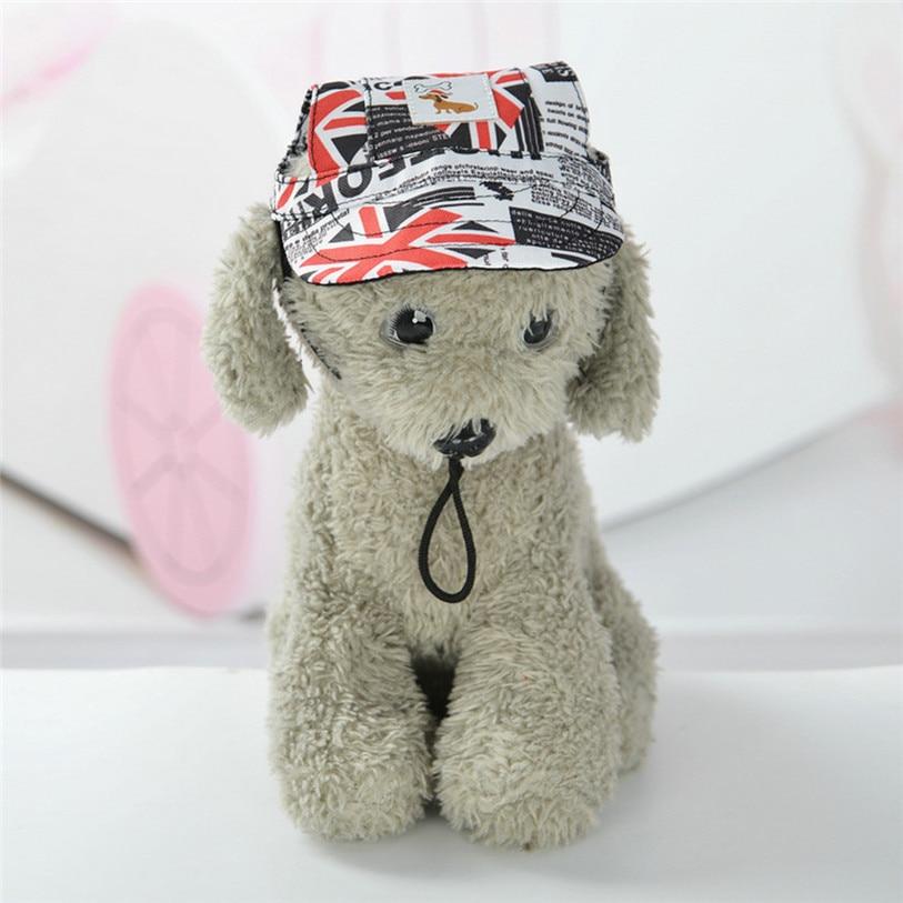 Summer Canvas Pets Cap Hat Dog Cat Headband Cute Print Outdoor Headdress Costumes Hair Band Visor Hat Cat Dog Accessories 40JA11 (11)