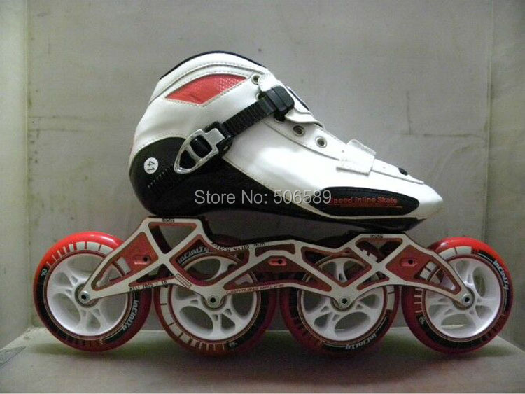 Free Shipping Speed Skates #33-#45 Boots+frame+wheels STS