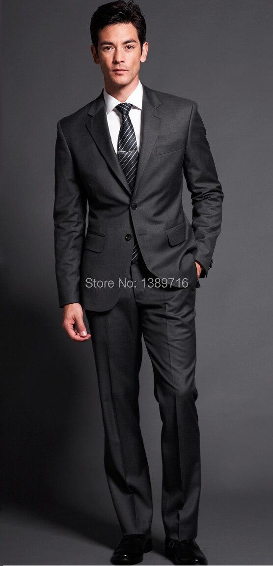 Por encargo Raja del lado Gris Carbón novio Esmoquin muesca solapa mejor  hombre padrinos de boda de los hombres Trajes chaqueta + pantstie envío  libre f1e6360a07e5