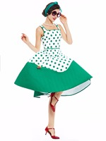 Sisjuly Women Vintage Dress 1950s Style Polka Dot Women Retro Dresses Summer Dresses For Women Party