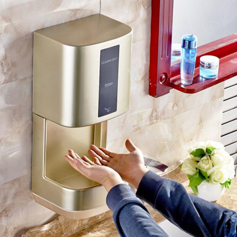 2000 W el kurutma makinesi Ev Otel secador de manos Banyo el kurutma makinesi Elektrikli Otomatik Indüksiyon Eller Kurutma Cihazı