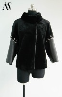 Arlenesain Black Shearling Women Fashion Jacket 125