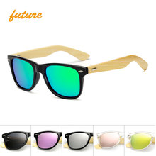 Фотография Wood Retro Unisex Polarized Sunglasses Sunglasses For Men/Women Brand Design Sport Lunettes Or Miroir Lunettes de Soleil Nuances