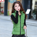 Women winter Down cotton vest  short  Slim thin outwear   vest  waistcoat  free ship short jacket   coat YL1180