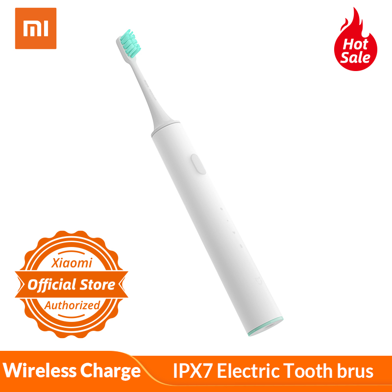 Xiaomi Mijia Smart Ultrasonic Electric Tooth Brush Wireless Charge IPX7 Waterproof APP Remote Control With Xiaomi Mi 8 Mi Mix 2s