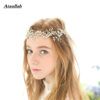 Ataullah New Flowers Pearls Hair Accessories Crystal Hair Ornaments Headbands Bridal Hair Jewelry Wedding Tiaras Barrette