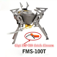 New Gas Burners Titanium Stove Camping Cook Backpack Stove Cooking Outdoor Camping Hiking Butane Stove Fire Maple FMS 100T