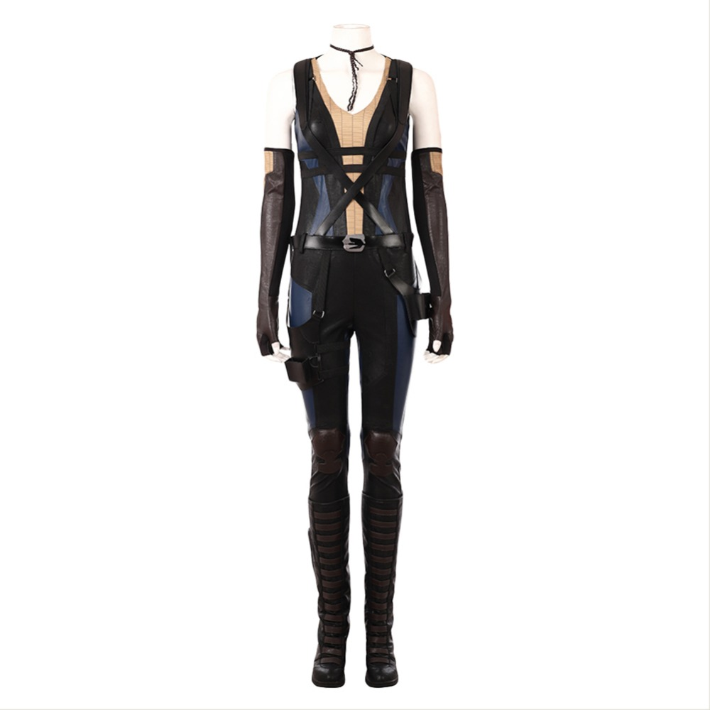 Movie Deadpool 2 Domino Neena Thurman Cosplay Costume Outfit Adult Men Halloween Carnival Costume High Quality