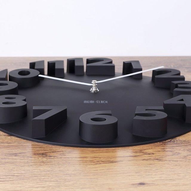 New fashion 3D wall clock modern design Art Decorative Dome Round Watch Bell clocks home decor