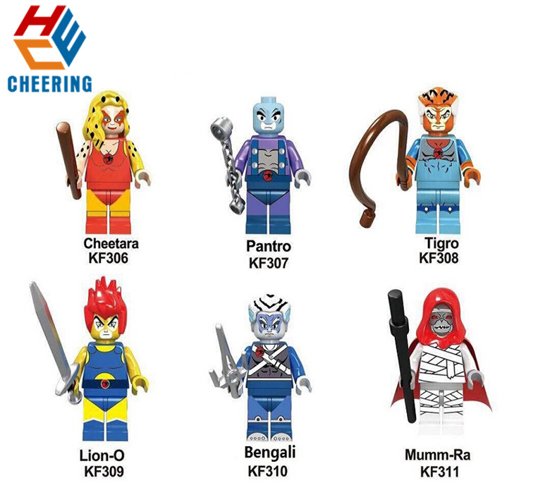 Single Sale Building Blocks American TV Movie Thundercats Mumm-Ra Lion-O Pantro Figures Bricks For Children Gift Toys KF6025