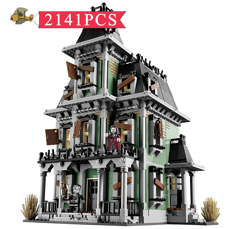 Model Building Blocks Toy Monster Fighter The Haunted House Assembled set DIY Classic Children Building Bricks Toys Gift Bei Fen self assembled diy electronic boxing fighter robot building blocks toys for children kids gift assembly educational puzzle toy