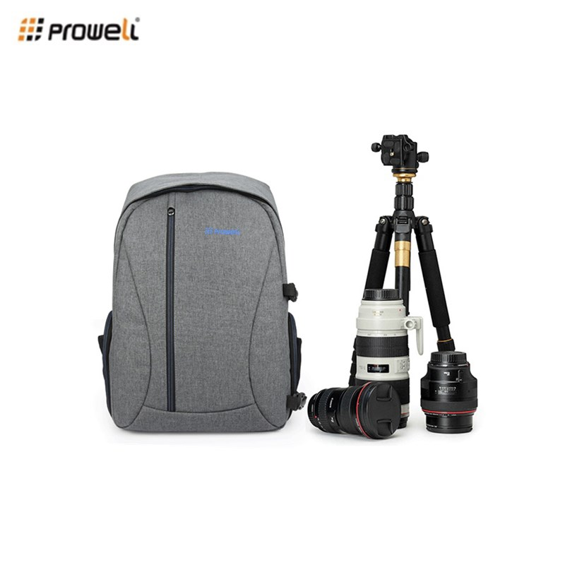 PROWELL DC21439 Waterproof Digital DSLR Photo Padded Backpack Multi-functional Camera Bag for Outdoor Traveling 3 Colors