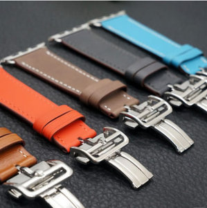 Image 5 - Watch Bracelet For Apple Watch Seires 4 5 40 44mm Genuine Leather Strap For herm Apple Watch Band Series 1 2 3 iWatch Watchbands