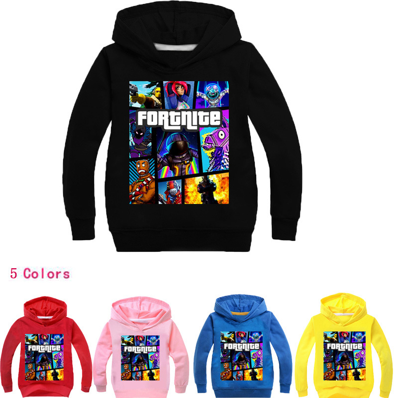 YLS 2-14Years Ropa Ninas 2018 Game Fortnite Sweatshirt Girl Coats Kids Jackets Windbreaker for Boys Toddler Coats Puddle Jumper