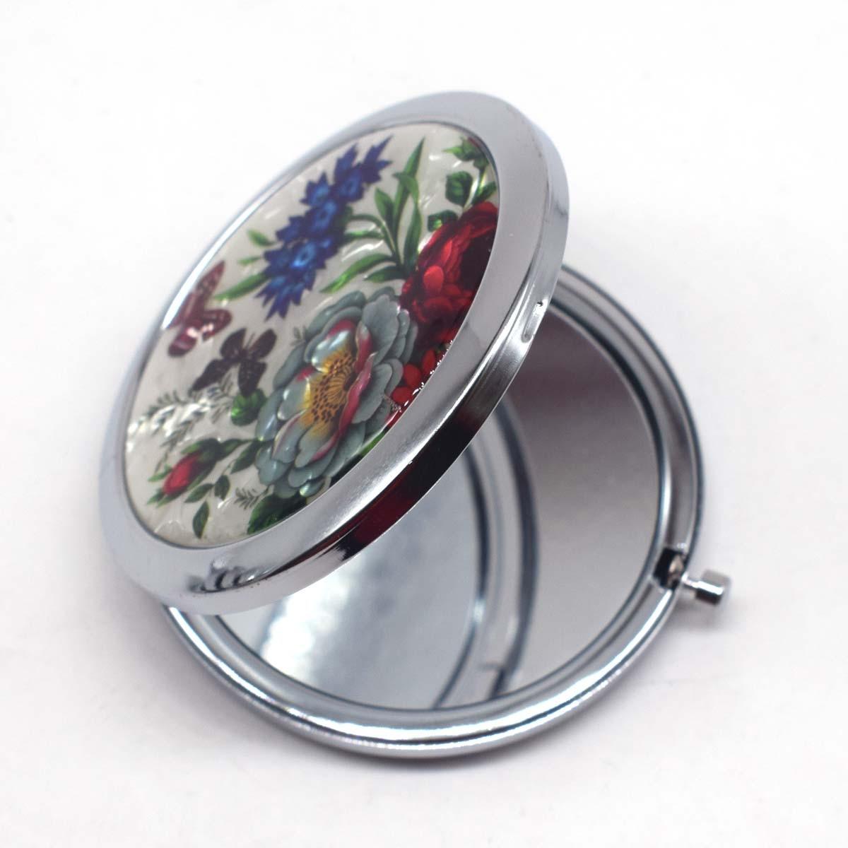 Spiegel Tasche Make-up Spiegel Kleine Kosmetische Kompakte Spiegel Espelho De Maquiagem Espejos De Bolsillo Dia 7 Cm Mini Gril