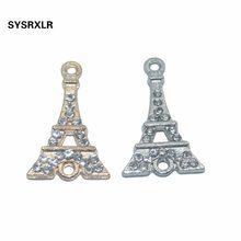 16f7f7d1b8c2 10 piezas de oro unids rosa plata cristal Torre Eiffel conector para joyería  hacer pendientes Accesorios DIY pulsera collar