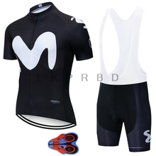 NEW 2019 Movistar Team short-sleeved cycling Jersey suit bib roa ciclismo bicycle MTB bike riding Ropa Ciclismo 9D GEL