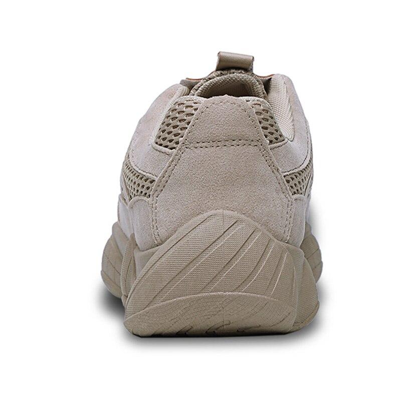 gray beige Vintage Sneakers Hommes Fur Fur Casual Confortable Mâle Maille Pu Bomkinta gray Papa Qualité De black Chaussures Amortissement beige Marche Rétro Black Fur lK1JcTF