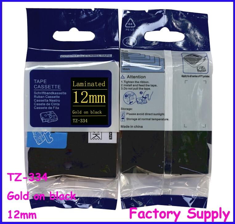 Tze334 tze 334 tz tze 334 tz334 tz 334 For Brother Printer Label Tape Cassette 12mm