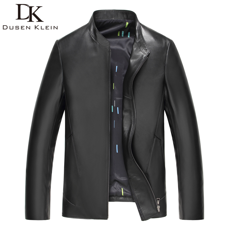 2017 New Dusen Klein man leather Jacket Real Sheepskin designer Business style slim brand leather Coat 61S8813