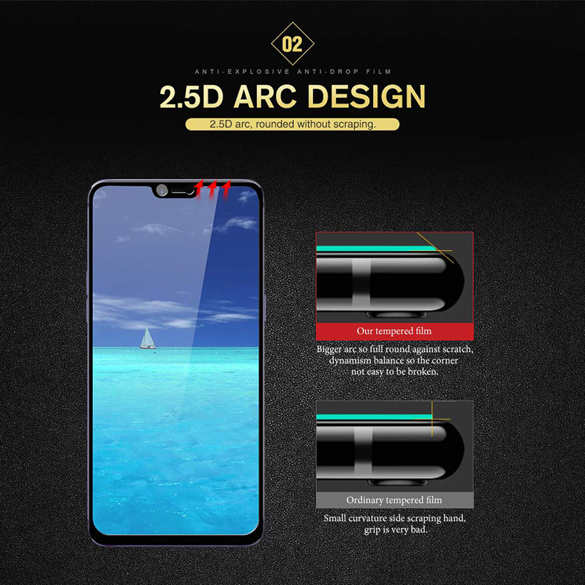 Tempered Glass For OPPO A83 A59 A3 F3 F5 F7 A5 A3S 3D 9H Screen Protector for OPPO R15 R9S R9 R11 R11S Plus Protective film