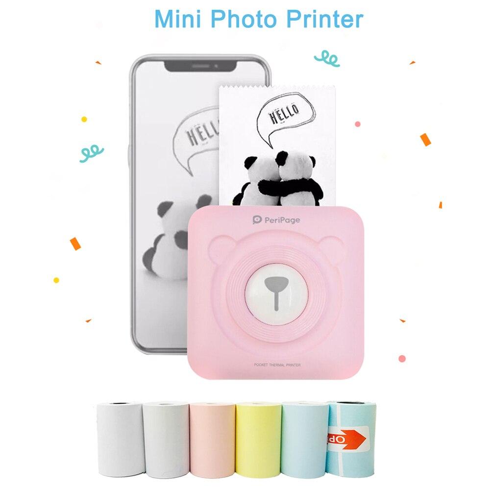 Pocket photo bluetooth thermal printer Mini Protable Mobile Notes Printer 58mm 2inch A6 Peripage Photo Printer