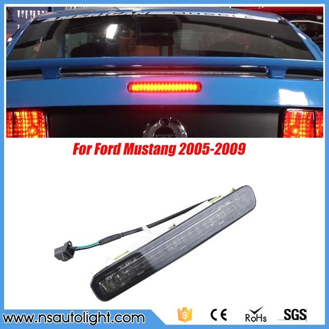 Super branco de Alta montagem LEVOU Terceira luz de Travagem Luz de freio Fumado lente Vermelha para 2005-2009 Ford Mustang LED vermelho