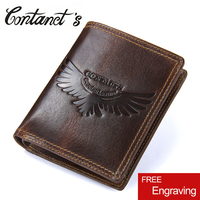 Small Vintage Bag Genuine Leather Men Wallets Coin Pocket Short Wallet With Zipper Multifunctional Money Purse For Card Holder