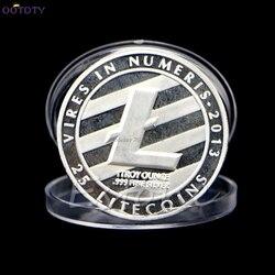 Hot 25 Litecoin Münzen Vires in Numeris Gedenkmünze Sammlung Silber Überzogene