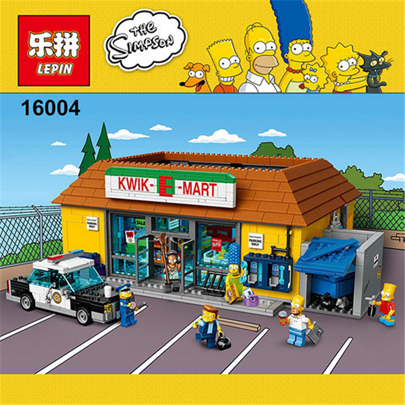 LEPIN 16004 2232Pcs Simpson KWIK-E-MART Model set Building Kits Model Compatible With 71016 Educational Children birthday Gifts