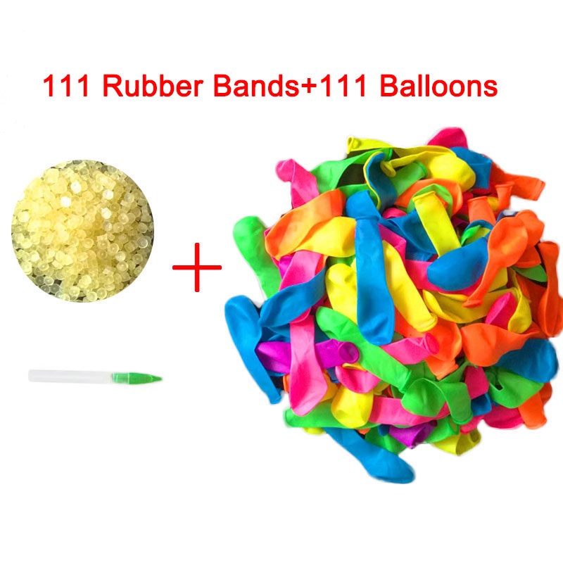 111Pcs Funny Water Balloons Toys Magic Summer Beach Party Outdoor Filling Water Balloon Bombs Toy For Kids Adult Children bracelet