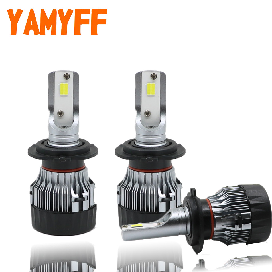 YAMYFF Car Headlight LED H7 Mini Projector Lens LED Bulb H11 H8 With Perfect Cut Line 10000LM Headlamp Auto Fog Light Lamp 12V