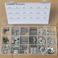 18 soorten Woodruff Toetsen Rvs Snap Ring Roll Pin E-Clip Assortiment Kit