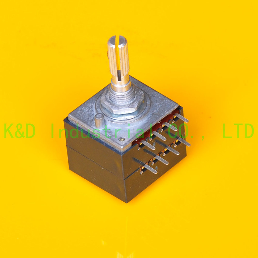 1pc Volume ALPS 27 type 250K potentiometer A Knurl shaft for Guitar Amplifier DIY