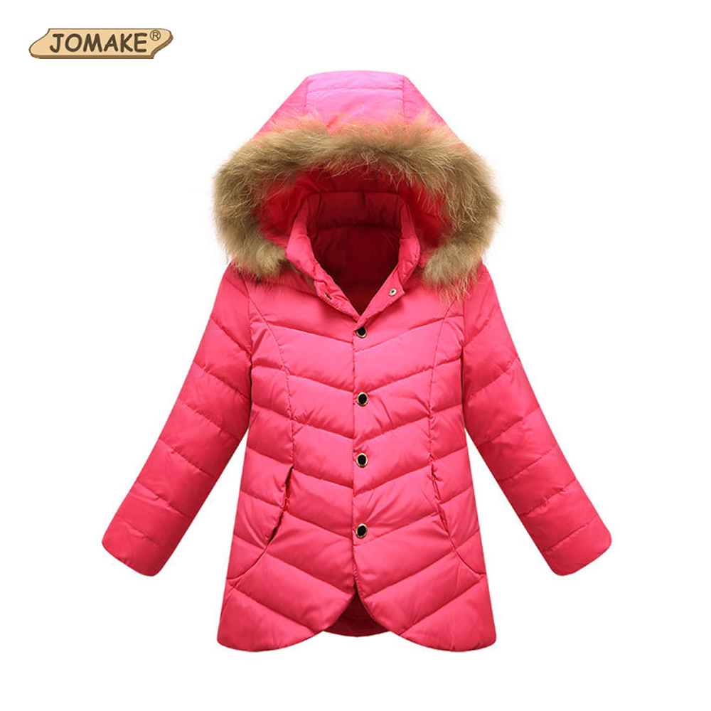 Winter Jackets Girls Fashion Kids Winter Coat Down Jacket for Girl Fur Hooded Children Warm Outerwear & Coats Teen Girls Clothes 3 colors fur hooded children down coats girls winter long jackets kids clothes fashion child warm jacket for girls coat 6 8 10 y