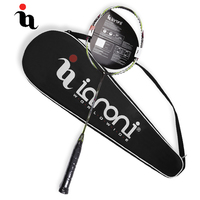 IANONI Professional Badminton Racket Badminton Bag Durable Ball Control Type Sports Full Carbon Box Frame Racquet