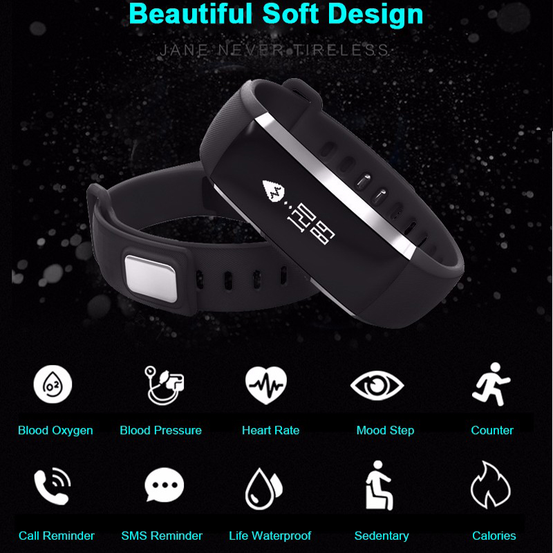 Bluetooth Watch M2 Smart Band Bracelet Blood Pressure Oxygen Oximeter Heart Rate Fitness Tracker Pedometer For iOS Android Phone