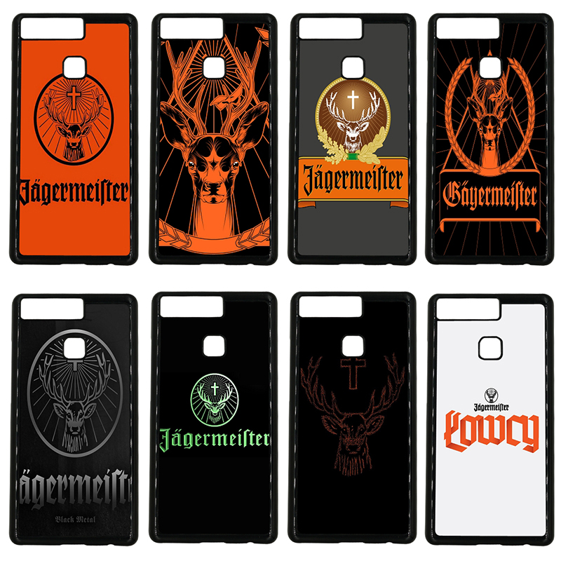 Jagermeister Logo Deer Head Mobile Phone Cases Hard Plastic Cover for Huawei P10 P9 Plus P8 Lite P7 Mate 10 9 8 7 Pro Lite Shell