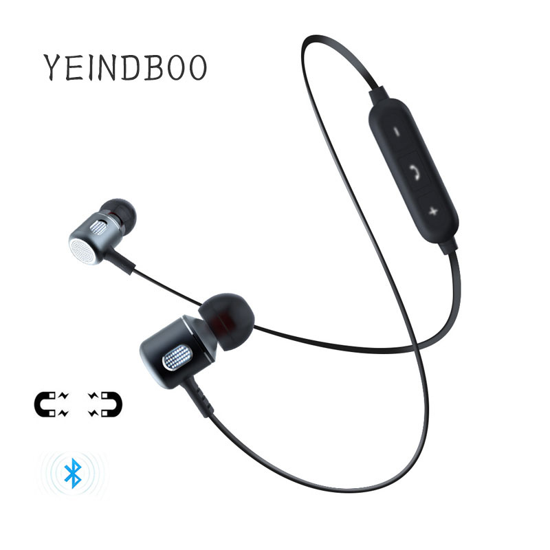 YEINDBOO Bluetooth Earphone Super Bass In-ear Bluetooth Earbuds Wireless Earphones With Mic For Mobile Phone Sports yeindboo wireless bluetooth earphone sports sweat proof stereo earbuds headset in ear earphones with mic for iphone