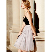 Top Design Women Elegant Summer Style Long Skirts Sexy Fashion All in Good Cheer Grey Tulle Skirt cheap Price