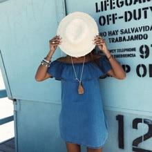 Blue A-Line Mini Dress
